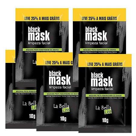Black Mask Máscara Preta Removedora de Cravos 10G Kit Com 5 Unidades La Bella Liss