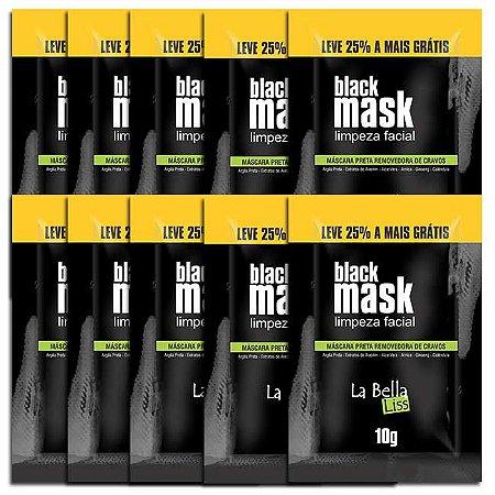 Black Mask Máscara Preta Removedora de Cravos 10G Kit Com 10 Unidades La Bella Liss