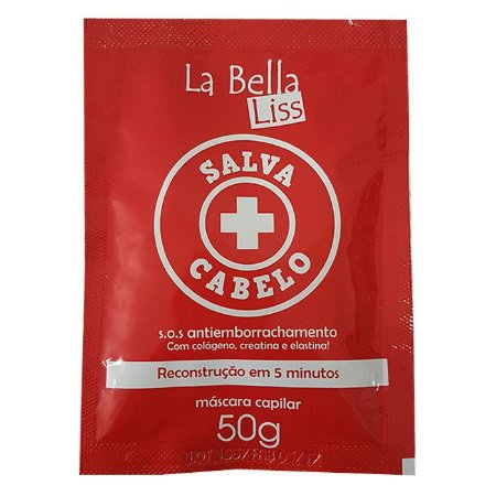 Salva Cabelo SOS Sachê 50ml Antiemborrachamento La Bella Liss