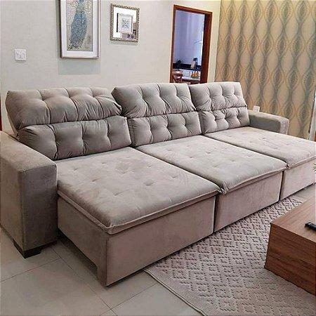 Sofa Retratil Reclinavel 4 Lugares Frete Gratis | Baci ...