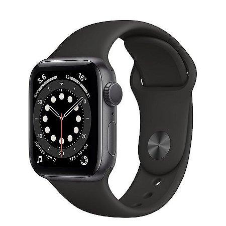 Apple Watch Series 6 44mm Caixa Cinza com Pulseira Esportiva