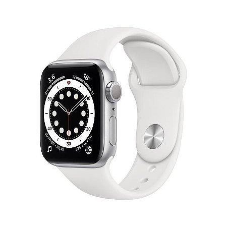 Apple Watch Series 6 40mm Caixa Prateada e Pulseira Branca