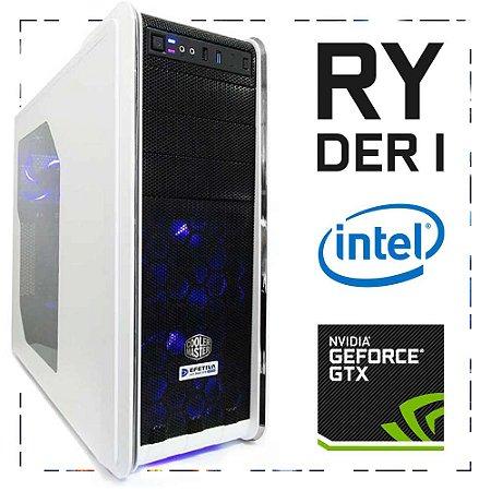 PC Gamer RYDER I I7-7700 + GTX 1060 3GB 16GB DDR4 1TB 500W 80 Plus Cooler Master CM 590 III WHITE
