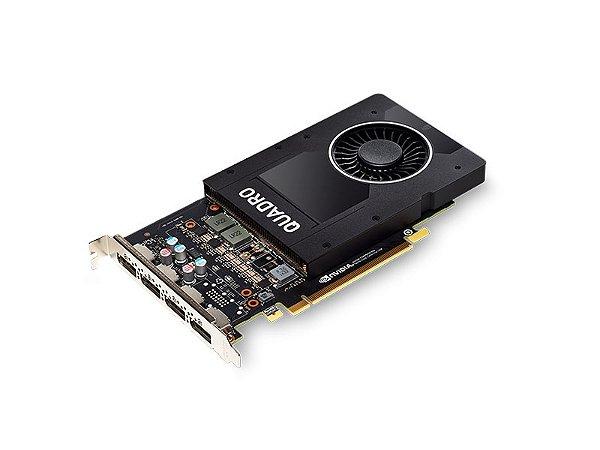 Placa de Vídeo Quadro P2000 Nvidia 5Gb DDR5 160Bit 1024 Cuda Cores Dp