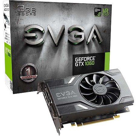 Placa de Vídeo GTX 1060 3G 192Bits GDDR5 Nvidia EVGA 03G-P4-6160-KR