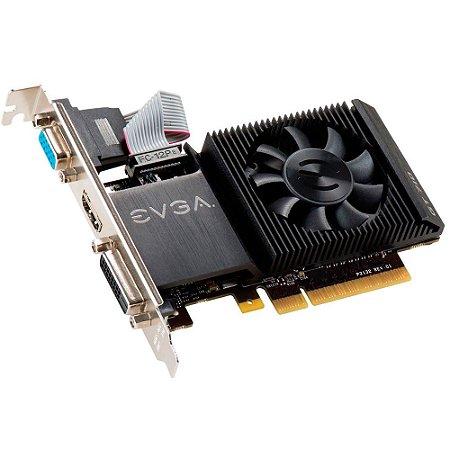Placa de Vídeo EVGA Geforce GT 710 2GB DDR3 64 Bits 02G-P3-2713-KR