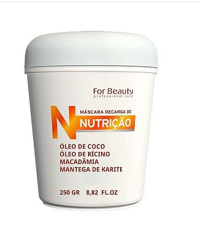 For Beauty HNR - Máscara Recarga de Nutrição 250g