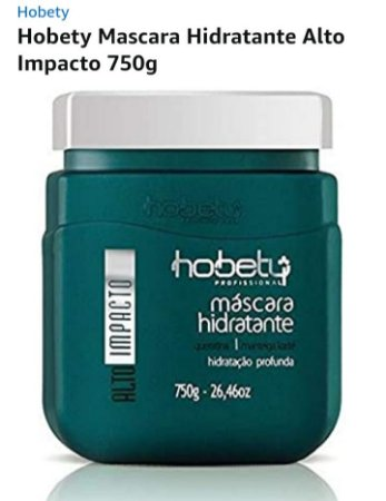 Mascara Profissional Alta Hidratação Alto Impacto Hobety 750gr
