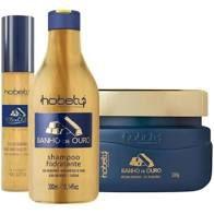 Kit Banho de Ouro 300gr - Shampoo, Mascara e Leave-in SOS