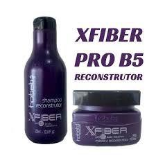 Kit Hobety X-Fiber Pro B5 com acido hialuronico reconstrutor