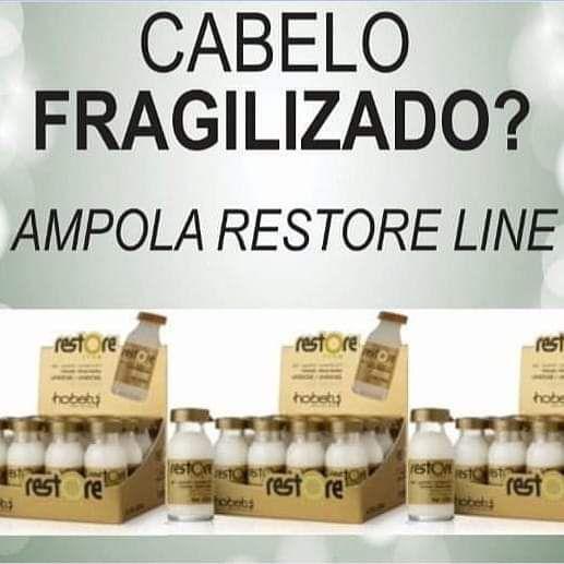 Ampola Regeneração Instantanea Restore Hobety kit com 3 unidades