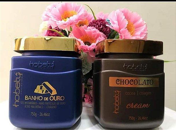 Kit Máscara Ouro 750gr mais Máscara Chocolato 750gr