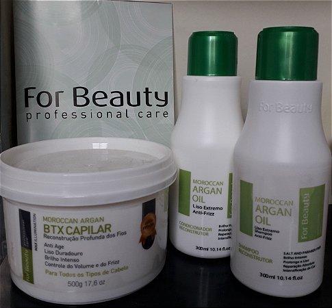 Botox Argan 500gr mais kit manutenção For Beauty