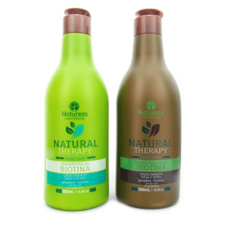 Natureza Cosméticos Kit Home Care Biotina Natural Therapy (2x500ml)