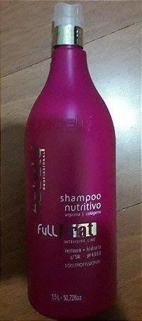 Shampoo Nutritivo Profissional Sem Sal Arginina e Colageno  Full Trat 1,5 litros