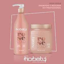 Kit Rose Gold Biotina Profissional Mascara 750gr e Shampoo 750ml