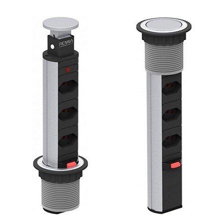 Torre Multiplug de 3 Tomadas