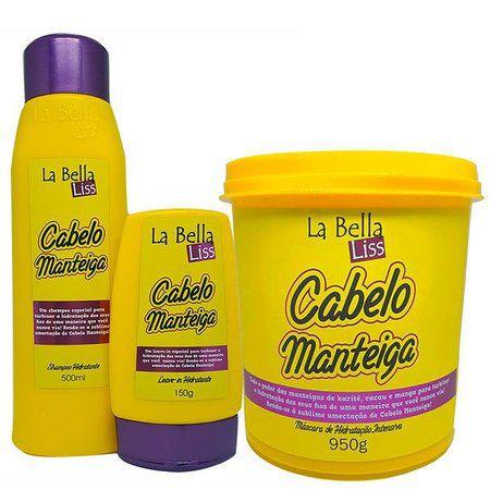 Kit Cabelo Manteiga - Shampoo Leavi in e Máscara (grande)