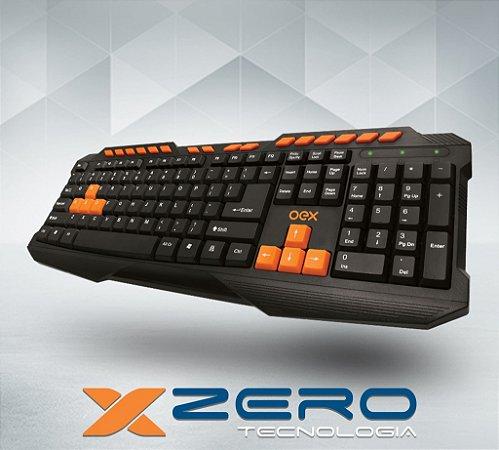 Teclado Gamer OEX  Action TC-200 USB Preto