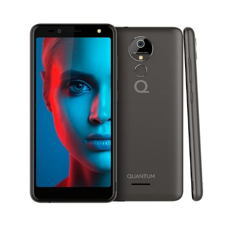Smartphone QUANTUM YOU 2 Grafite | Dual Chip | Android 8.0 | Tela 5,5'' HD | Quad Core | 16GB Interno | Câmera 13MP