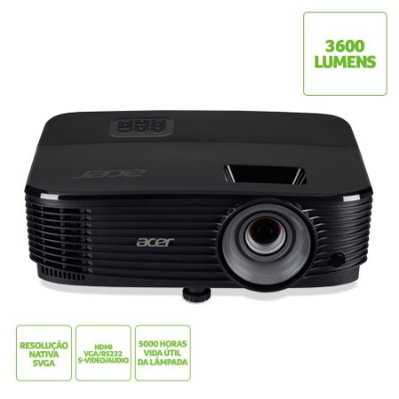 Projetor Acer X1123H 3600 Lumens SVGA HDMI Preto