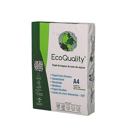 Papel Sulfite A4, Extra Branco 75grs - Resma 500 Folhas - 100% de Bagaço de Cana de Açúcar