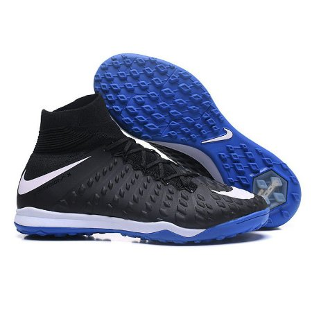 Chuteira Nike Hypervenom Phantom III DF TF Preta Azul Azul Azul Branca Cano 0e7695