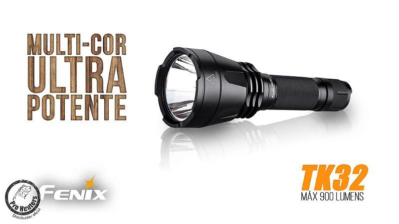 LANTERNA FENIX TK32 - ALCANCE DE ATÉ 400m - 900 lumens