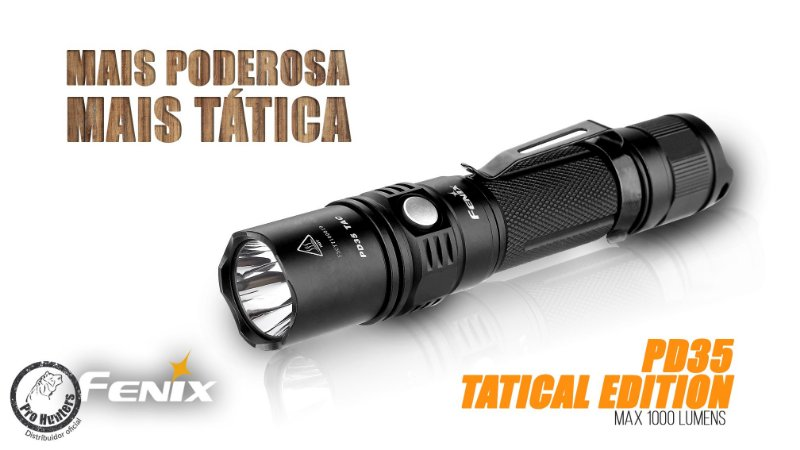 LANTERNA FENIX PD35 - TACTICAL EDITION - 1000 lumens
