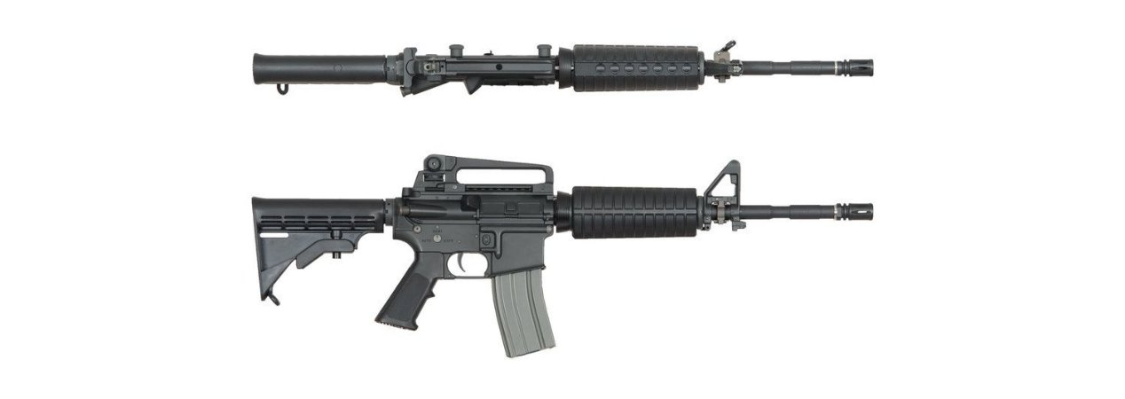 TODAS VENDIDAS - RIFLE AIRSOFT M4 RIS FULL METAL ARES AR-009