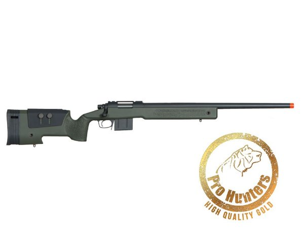 RIFLE SNIPER AIRSOFT MCM700X MSR-014 ARES - SPRING POWER - Olive Drab