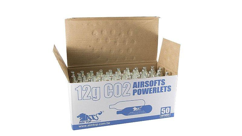 50 (CINQUENTA) Cápsulas Descartáveis de CO2 - 12G - Aim Top