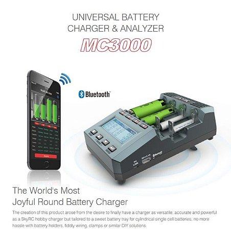Carregador e analisador de baterias  Skyrc MC3000 Bluetooth 4 slots