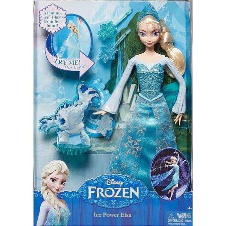 d37fc49538 Boneca Disney Frozen - Elsa em Ação - Mattel - Nanda Baby