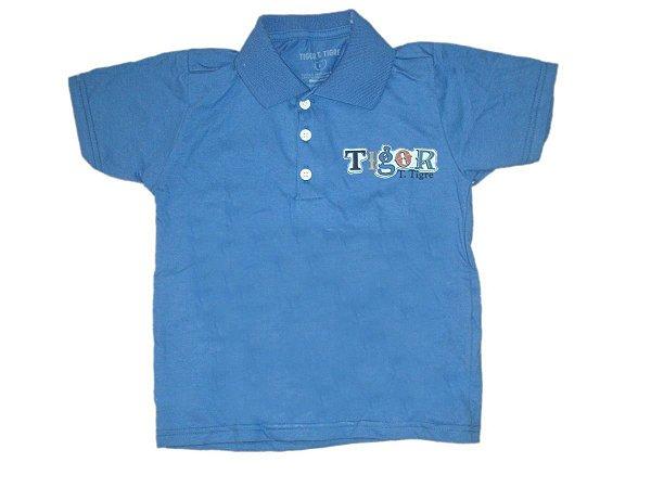 e411ac61fa Camiseta Polo tigor Azul - Nanda Baby
