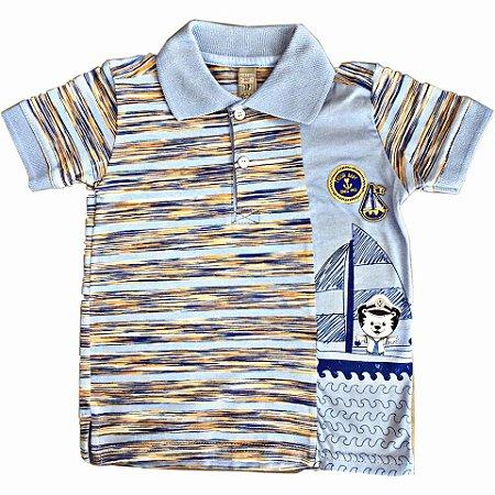 b188d8930d Polo Tigor T Tigre Azul - Nanda Baby