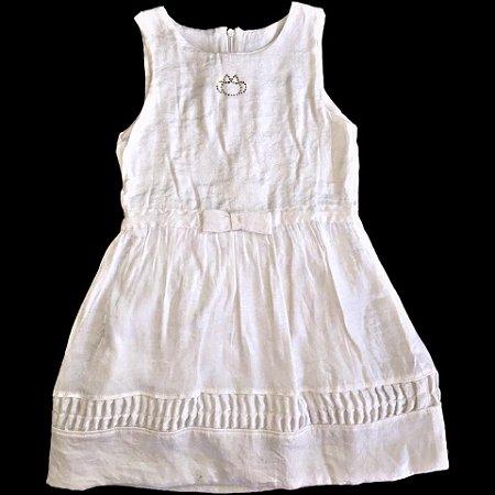 d5763ecc87 Vestido Branco Lilica Ripilica - Nanda Baby