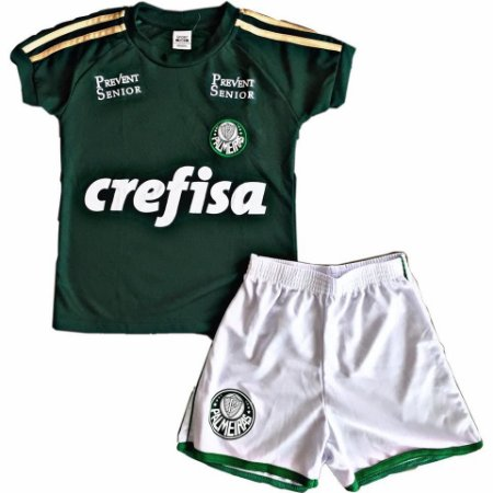 10495d85d9 Conjunto Masculino Palmeiras Infantil - Verde - Nanda Baby