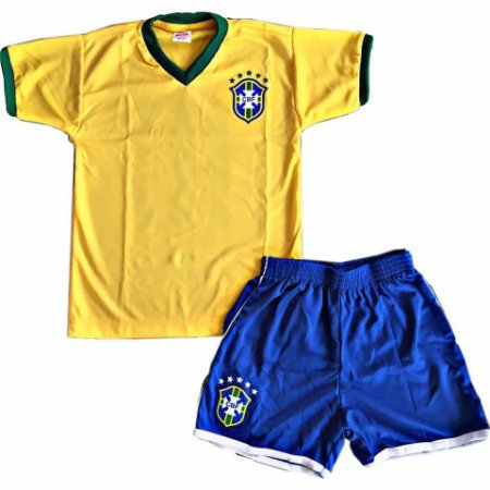 f8975dfb82 conjunto masculino infantil Brasil Amarelo - Nanda Baby