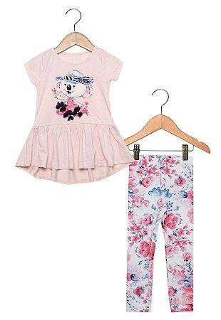 040951e72a Conjunto Lilica Ripilica Curto Menina Rosa - Nanda Baby