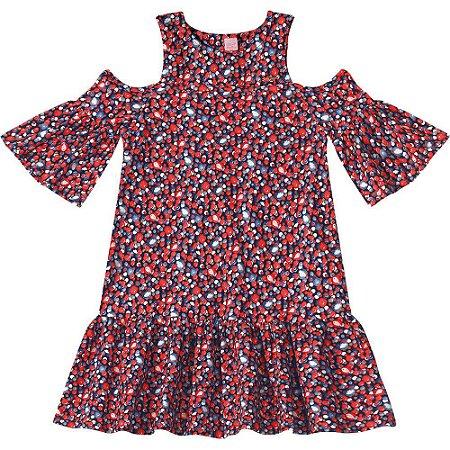 2a5efb1da Vestido Lilica Ripilica Vermelho - Nanda Baby