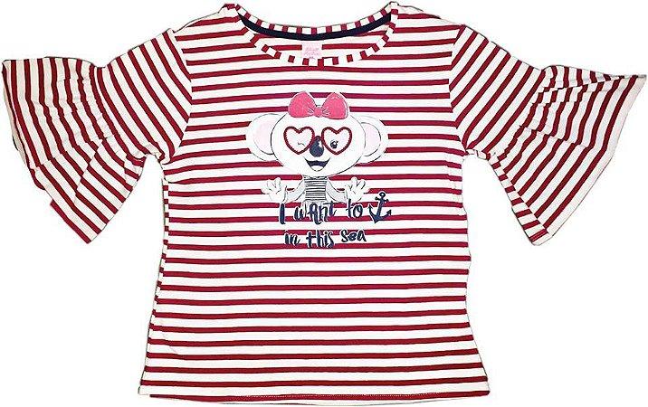9b93090e7c Blusa Infantil Feminina Branca Lilica Ripilica - Nanda Baby