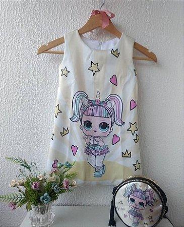 dd251d628 Vestido LOL Surprise Unicórnio - Nanda Baby