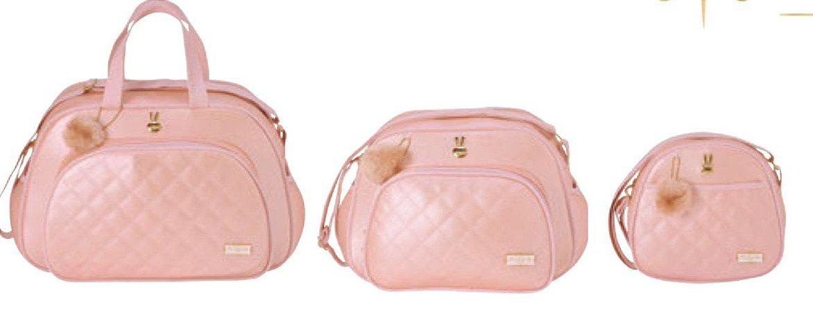 07f8068c4 Bolsas maternidade rosa Pirulitando kit com 3 unidades - Nanda Baby