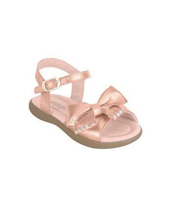 2239d85f24 Sandália Infantil ortopé Menina bronze - Nanda Baby