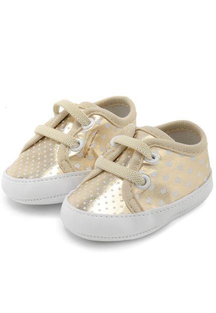 e842cb0e96 Tênis Pimpolho Baby Menina Dourado - Nanda Baby