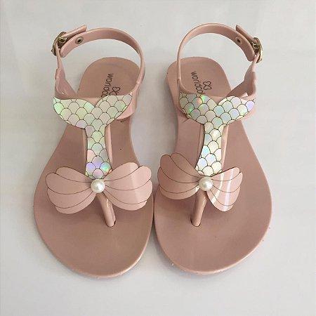 7ad67d8750 Sandalia Infantil nude sereia World Colors - Nanda Baby
