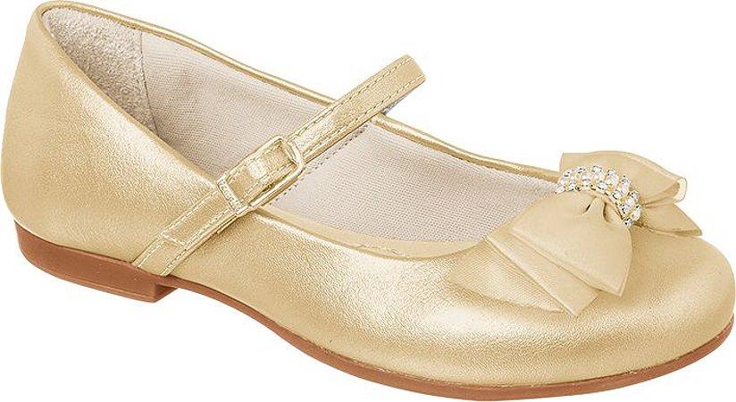 a350661ab5 Sapato infantil dourado feminino Pampili - Nanda Baby