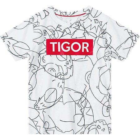 5f1265141f Camiseta Tigor T. TIGRE Branca - Nanda Baby