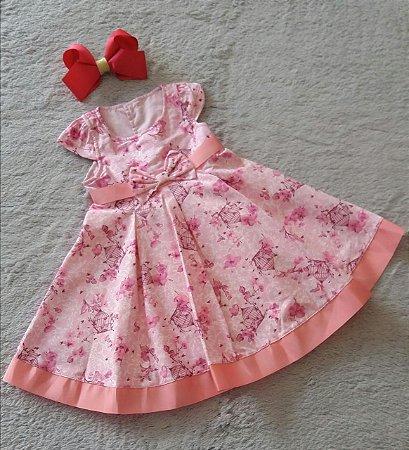 Vestido Bebê Tecido Sonho De Nenem